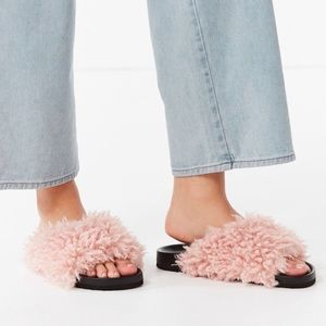 NWT Urban Outfitters Faux Fur Shearling Slides